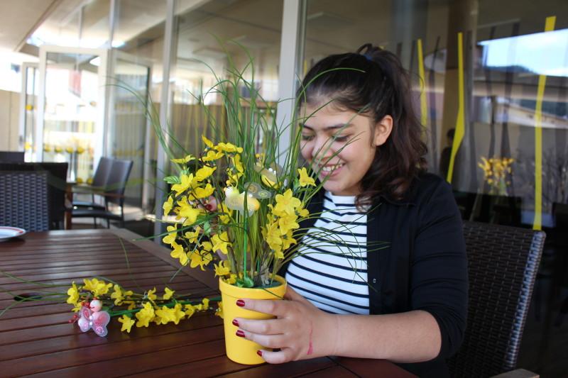 Vanda arrangiert Blumen