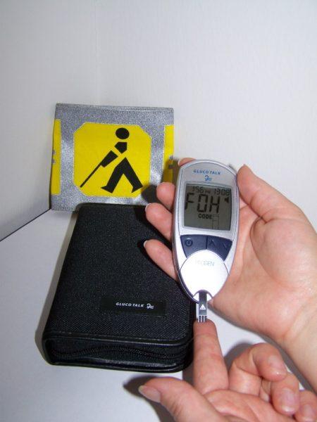 Sprechendes Blutzucker-Messgerät