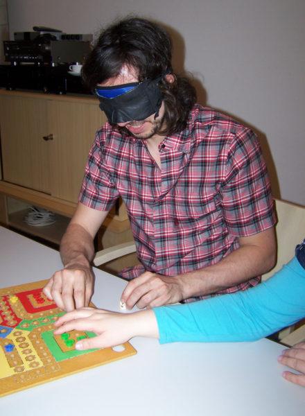 Autor Matthias Christler mit Simulationsbrille