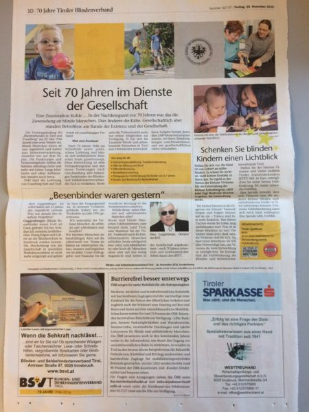 BSVT in der Tiroler Tageszeitung