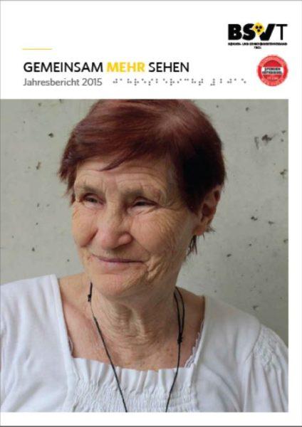 Portrait einer blinden älteren Dame.