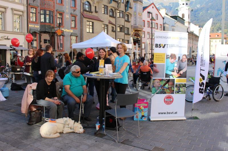 Der BSVT Stand beim ÖZIV-Aktionstag 2018.