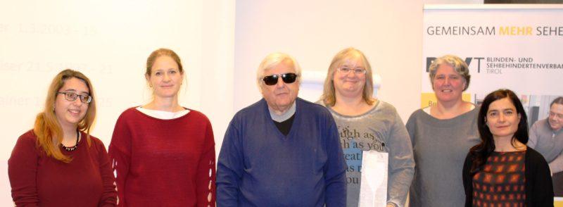 Im Bild von links Pinar Camalan (5), Birgit Brugger (15), Klaus Guggenberger, Brigitte Amrainer (25), Carmen Natter (11), Gabi Weiser (21).