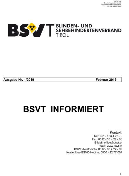 Titelbild BSVT informiert