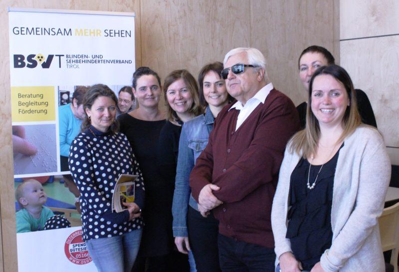 von links: Claudia Mark, Bettina Mader, Gerda Holzhammer, Margaretha Girstmair, Klaus Guggenberger (BSVT Obmann), Anita Luckner-Hornischer, Manuela Andres, @BVT/Jandrasits
