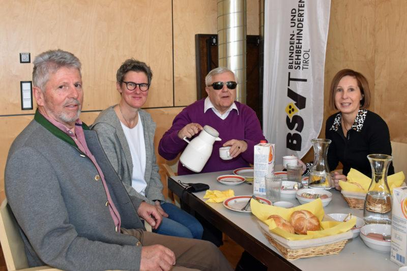 Markus Zettinig, Heidi Amann, Klaus Guggenberger und Gabriele Fischer Fotonachweis: Land Tirol/Reichkendler