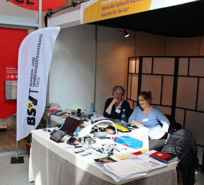 Vorstands Stv.in Sabine Karrer und die Leiterin der Beratungsstelle Carmen Natter waren beim BSVT Stand vor Ort
