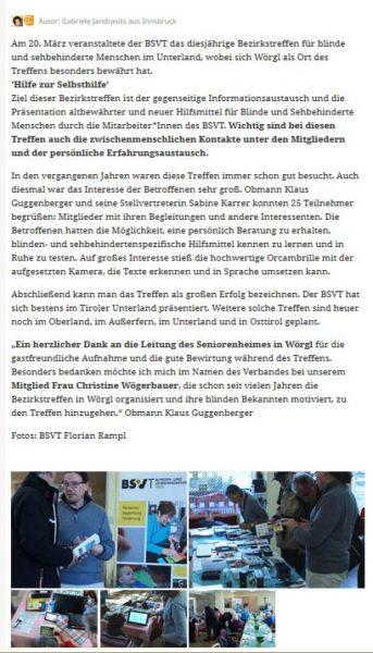 Nachbericht auf Mein Bezirk / Kufstein / Lokales