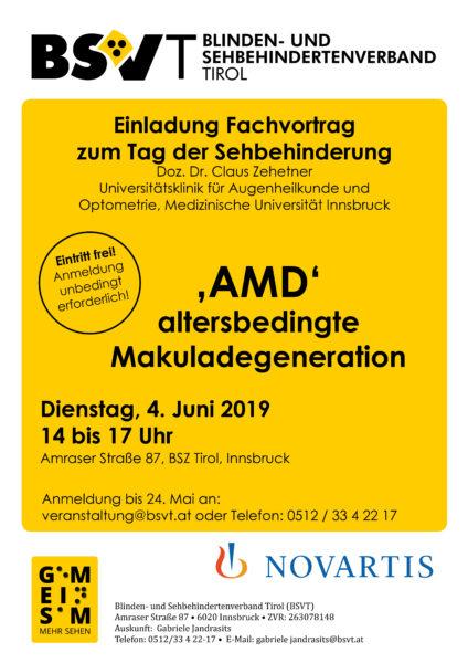 Plakat Fachvortrag AMD