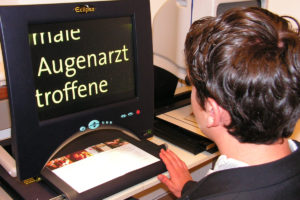 Bildschirmlesegeräte können auch angemietet werden.