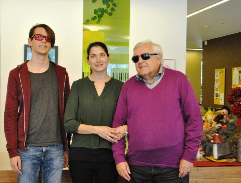 BSVT Lehrling Silvan Schranz, Pflegedienstleiterin Jacqueline Kempf, BSVT Obmann Klaus Guggenberger
