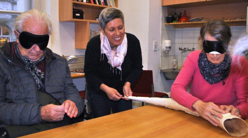 Angelika Schafferer (Mitte) Ehepaar Oexle aus Innsbruck mit Dunkelbrille