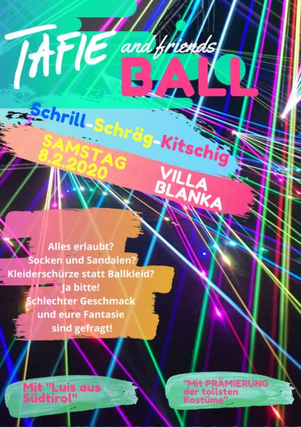 Tafie and friends Ball Plakat