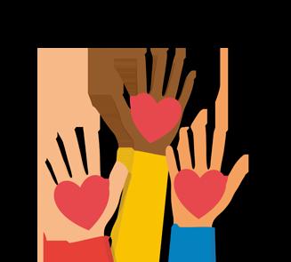Hände mit Herzen